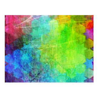 Arte geométrico brillante sucio tarjetas postales