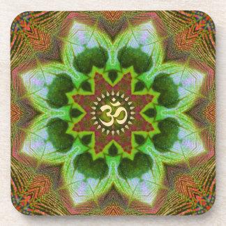 Arte geométrico de la mandala de Lotus OM: Sistema Posavasos