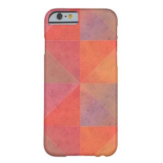 Arte geométrico de los triángulos rosados funda de iPhone 6 barely there