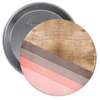 Arte geométrico de madera chapa redonda 10 cm
