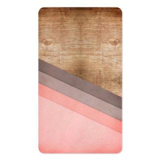 Arte geométrico de madera tarjetas de visita