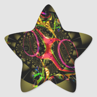 Arte geométrico del fractal colorido de la