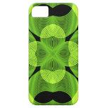 Arte geométrico del Spirograph decorativo verde de iPhone 5 Case-Mate Cárcasa