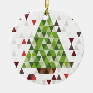 Arte geométrico moderno del árbol de navidad ornato