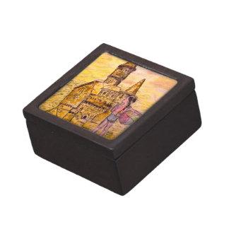 arte gigante del castillo de arena cajas de joyas de calidad