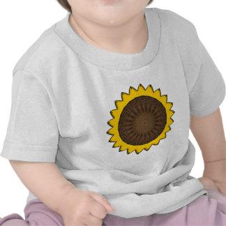 "Arte ""girasol "" del vector camiseta"