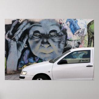 Arte gitano de la calle del adivino del Las Palmas Póster