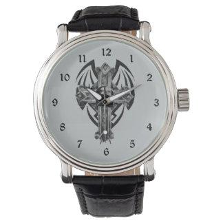Arte gótico cruzado tribal del cráneo relojes