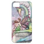 Arte gótico de la fantasía de la hada y del dragón iPhone 5 carcasa