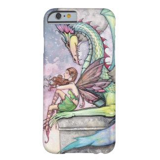 Arte gótico de la fantasía de la hada y del dragón funda de iPhone 6 barely there