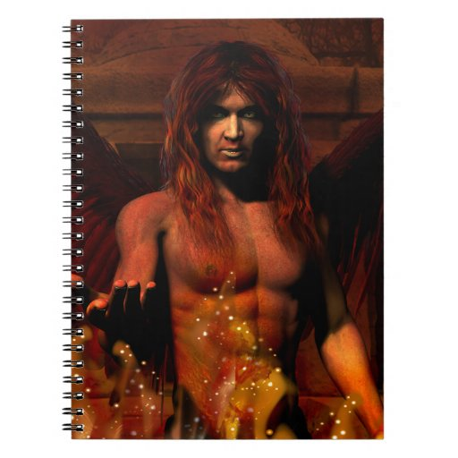 Arte gótico de la fantasía de Lucifer Libros De Apuntes Con Espiral