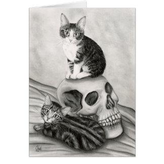 Arte gótico de la fantasía del gótico del cráneo tarjeta
