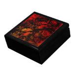Arte gótico de los cráneos del infierno llameante caja de regalo