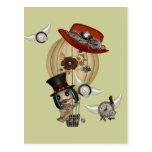 arte gótico del steampunk del globo del aire calie tarjeta postal