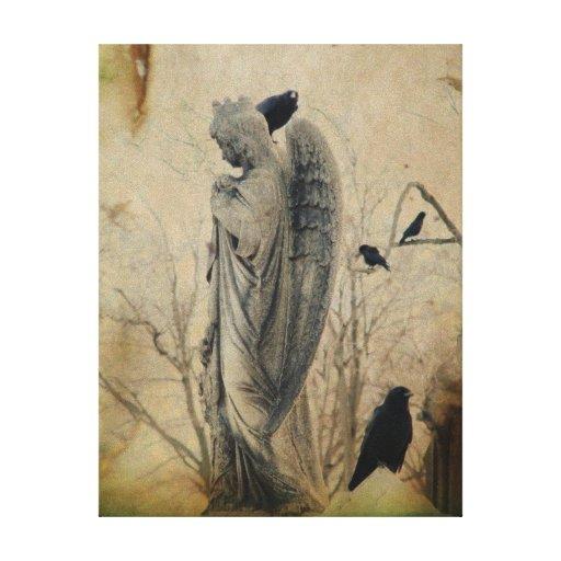 Arte gótico del vintage impresiones de lienzo