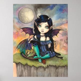 Arte gótico lindo de la fantasía de la hada y del póster