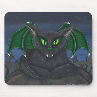 Arte gótico Mousepad de la fantasía del gato del v