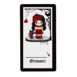 Arte gótico rojo del pixel de la muñeca del amor etiquetas de envío