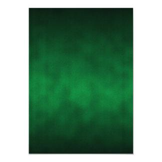 """Arte gótico verde del fondo de Ombre Invitación 5"""" X 7"""""""