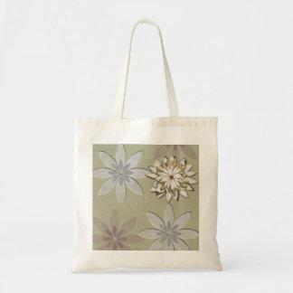 Arte grabado en relieve de las flores bolsas