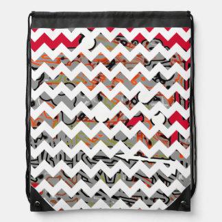 arte gráfico abstracto del galón mochilas