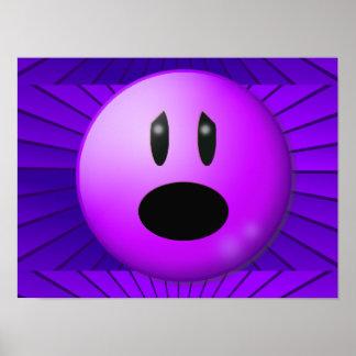 Arte gráfico de la conciencia púrpura del dolor póster