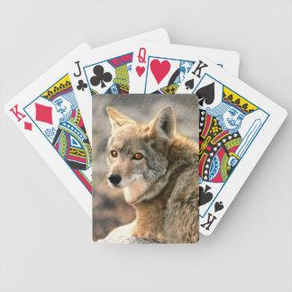 Arte gráfico de la lluvia del lobo baraja de cartas