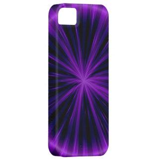 Arte gráfico de la luz violeta de la estrella funda para iPhone SE/5/5s