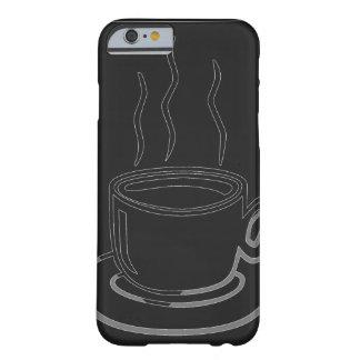 Arte gráfico de la taza de café funda de iPhone 6 barely there