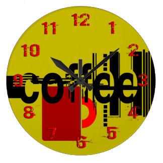 Arte gráfico minimalista del café numerado reloj