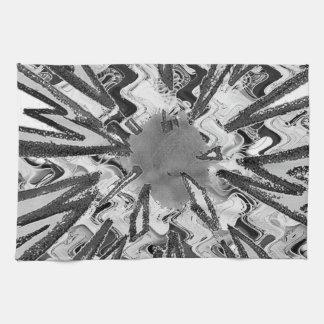 Arte gráfico n de Goodluck de la estrella blanca Toallas De Mano