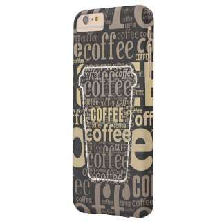 Arte grande de la palabra de la taza del amante funda para iPhone 6 plus barely there