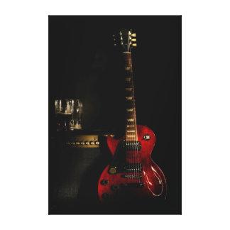 arte grande de la pared de la lona de la guitarra  lienzo envuelto para galerias