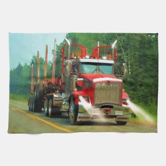 Arte grande del camión y de la carretera para los toallas