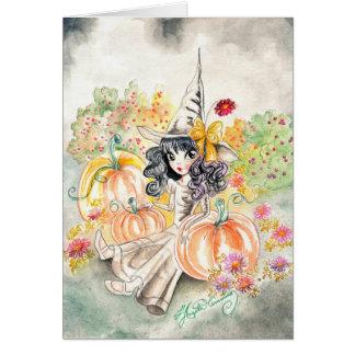 Arte grande lindo del chica del ojo tarjeta de felicitación