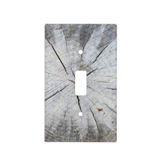 Arte gris 1 de la foto del tocón de árbol de pino  cubiertas para interruptor