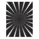Arte gris 9 del caleidoscopio postales