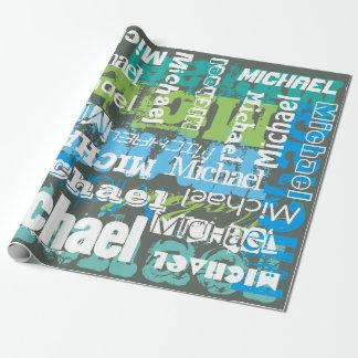 Arte gris conocido personalizado del subterráneo papel de regalo