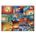 Arte hermoso caprichoso colorido de 2014 calendari calendarios
