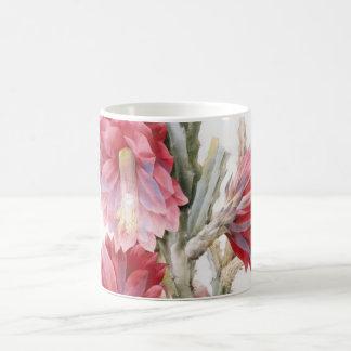 Arte hermoso de la acuarela de la floración del ca taza básica blanca