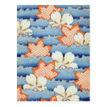 Arte hermoso de la flor de Sakura Tarjetas Postales