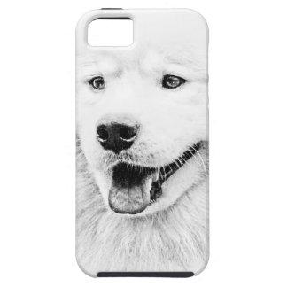 Arte hermoso del perro del samoyedo iPhone 5 Case-Mate cobertura