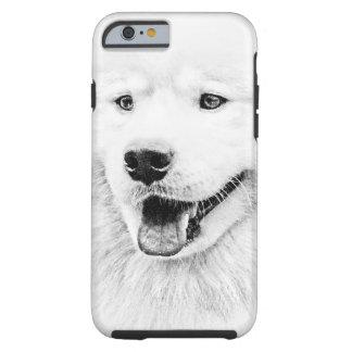 Arte hermoso del perro del samoyedo funda de iPhone 6 tough