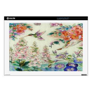 Arte hermoso del vitral de las flores de los colib portátil skins