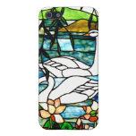 Arte hermoso del vitral de los cisnes iPhone 5 cárcasas