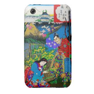 Arte hermoso japonés oriental fresco del jardín funda para iPhone 3 de Case-Mate