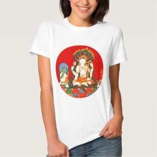 Arte hindú del ejemplo del vintage colorido de remera