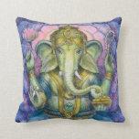 Arte hindú del espiritual de Ganesha del elefante  Almohada
