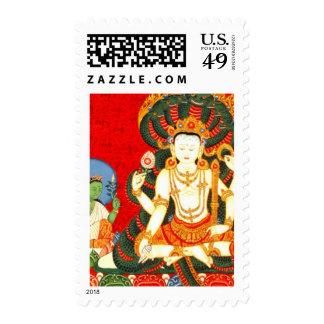 Arte hindú del vintage de Vishnu