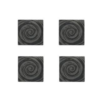 Arte hipnótico gris y negro del remolino imán de piedra